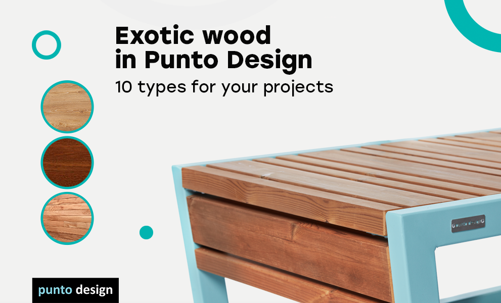 New: Exotic tropical wood in Punto Design